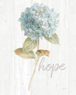Garden Hydrangea on Wood Hope