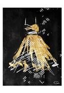 Gold Dress White Dots Two