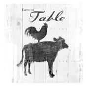 Farm To Chicken Cow Grey