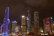 Skyscrapers and Hong Kong Observation Wheel, Hong Kong, China