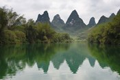 Karst Hills with Longjiang River, Yizhou, Guangxi Province, China