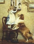 Little Girl and Her Sheltie