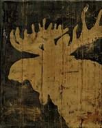 Rustic Lodge Animals Moose