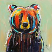 Painted Black Bear