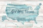 God Bless America USA Map