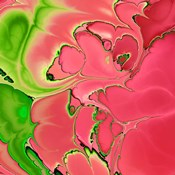 Abstract Fractals Pink And Green