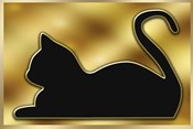 Cat on Gold Background