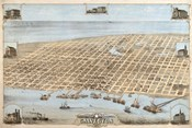 Map Of Galveston Texas 1871