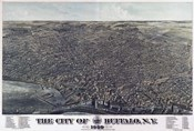 Map Of The City Of Buffalo Ny 1880
