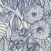 Indigo Leaves And Florals 1