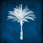 Single Indigo and White Palm Tree