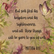 Floral Bible Verse - A