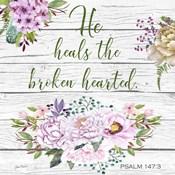 Garden Florals Bible Verse - B