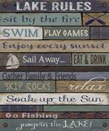 Lake Rules On Wood