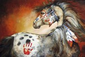 4 Feathers Indian War Pony