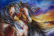 5 Feathers Indian War Horse