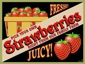 Strawberries Crate Label