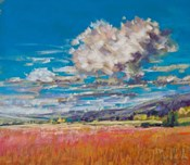 Summer Clouds over Cornfield