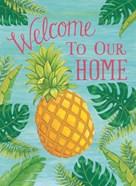 Tropical Leaves & Pineapple