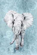 Blue Paisley Elephant