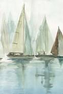 Blue Sailboats II