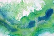 Green Waves Watercolor Abstract Splash 1