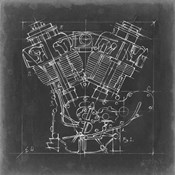 Motorcycle Engine Blueprint I