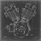 Motorcycle Engine Blueprint III