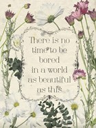 Pressed Floral Quote I