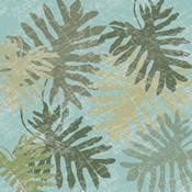 Faded Tropical Leaves I
