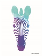 Violet and Teal Zebra