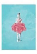 Teal Rose Ballerina Background