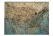 Blue Blue Map America