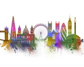 London Skyline Rainbow Bright