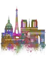 Paris Skyline Rainbow Bright