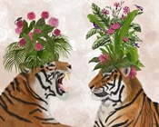 Hot House Tigers, Pair, Pink Green