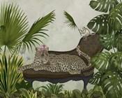 Leopard Chaise Longue
