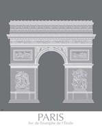 Paris Arc De Triomph Monochrome