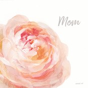 Garden Rose on White Crop II Mom