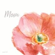 Garden Poppy Flipped on White Crop II Mom