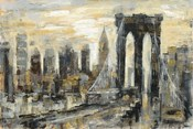 Brooklyn Bridge Gray and Gold
