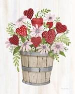 Rustic Valentine Bushel Basket