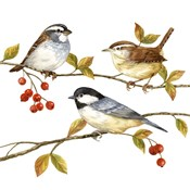 Birds & Berries I