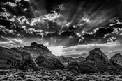 Valley Of Fire 3 Black & White