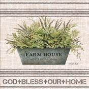 Galvanized Farmhouse God Bless