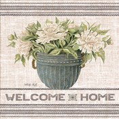 Galvanized Peonies Welcome Home