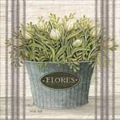 Galvanized Flores