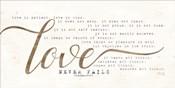 Love Never Fails
