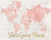Across the World Shes Going Places Pink