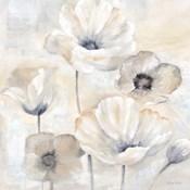 Gray Poppy Garden I
